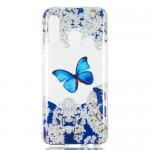 Pouzdro / Obal Galaxy A40 - Průhledné - Motýli 01