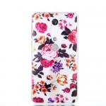 Gelový obal Nokia 6.1 - průhledný - Květy 04