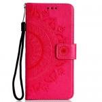 Pouzdro Xiaomi Redmi Note 6 Pro - tmavě růžové - Mandala