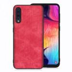 Pouzdro / Obal Galaxy A50 - Jeans 02 - červené