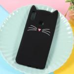 Obal Honor 8X - Kočka - černá