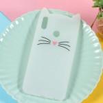 Obal Honor 8X - Kočka - bílá se třpytky