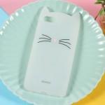 Pouzdro Xiaomi Redmi 6A - bílé se třpytky - Kočka