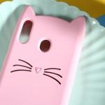 Pouzdro Galaxy M20 - Kočka - růžová