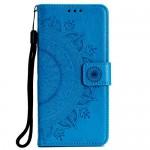 Pouzdro Galaxy M20 - Mandala - modrá