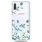 Pouzdro / Obal Galaxy A50 - Průhledné - Květy 02