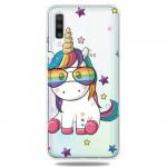 Pouzdro / Obal Galaxy A50 - Průhledné - Jednorožec 02