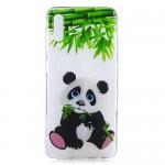 Pouzdro / Obal Galaxy A50 - Průhledné - Panda 01