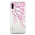 Pouzdro Galaxy M20 - Průhledné - Květy 01