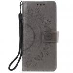Pouzdro Galaxy A40 - Mandala - šedé