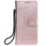 Pouzdro Galaxy A40 - Mandala - světle růžové