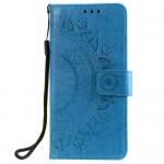 Pouzdro Galaxy A40 - Mandala - modré