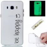Obal Samsung Galaxy J5 (2016) - průhledné - Be happy