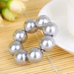 Gumička do vlasů - Stříbrné perly