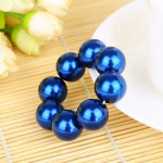 Gumička do vlasů - Modré perly