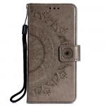 Pouzdro Galaxy A70 - Mandala - šedé