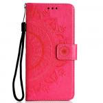 Pouzdro Galaxy A70 - Mandala - tmavě růžové