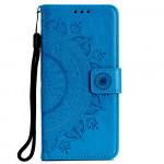 Pouzdro Galaxy A70 - Mandala - modré