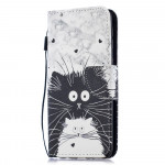 Pouzdro Galaxy M20 - Kočky 02
