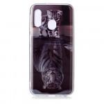Pouzdro Galaxy A20e - Kotě a tygr