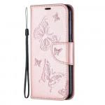 Pouzdro Nokia 4.2 - Růžové motýli