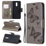 Pouzdro Nokia 3.2 - Motýli - šedé