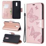 Pouzdro Nokia 3.2 - Motýli - světle růžové