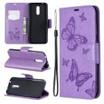 Pouzdro Nokia 3.2 - Motýli - fialové