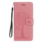 Pouzdro Nokia 4.2 - strom - světle růžové