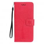 Pouzdro Nokia 4.2 - strom - tmavě růžové