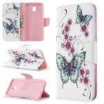 Pouzdro Xiaomi Redmi 8A - Motýli 01