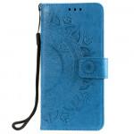 Pouzdro Honor 8A, Huawei Y6 2019 - Mandala - modré