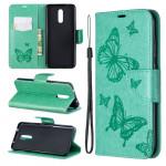 Pouzdro Nokia 3.2 - Motýli - tyrkysové