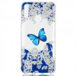 Pouzdro Huawei Y7 2019 - průhledné - Motýl 03