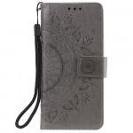 Pouzdro Galaxy A51 - Mandala - šedé