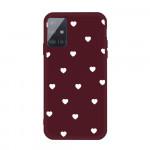 Obal Galaxy A51 - vínové - srdíčka