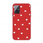 Obal Galaxy A51 - červený - srdíčka