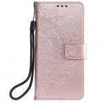 Pouzdro Galaxy A41 - Mandala - světle růžové
