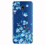 Obal Xiaomi Redmi 8A - průhledný - Květy 01