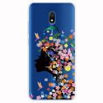 Obal Xiaomi Redmi 8A - průhledný - Květy 02