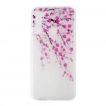 Obal Xiaomi Redmi Note 8 - průhledný - Květy 02