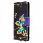 Pouzdro Galaxy A41 - Motýli 03
