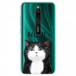 Obal Xiaomi Redmi 8 - průhledný - Kočka