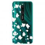 Obal Xiaomi Redmi 8 - průhledný - Květy