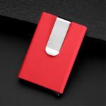 Pouzdro na karty s klipem - Červené