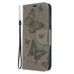 Pouzdro Xiaomi Redmi 8A - Motýli - šedé