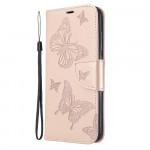 Pouzdro Xiaomi Redmi 8A - Motýli - světle růžové