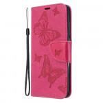 Pouzdro Xiaomi Redmi 8A - Motýli - tmavě růžové