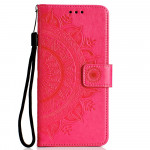 Pouzdro Huawei Y6P - tmavě růžová mandala