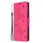 Pouzdro Xiaomi Redmi Note 9 Pro / Note 9S - Motýli - tmavě růžové
